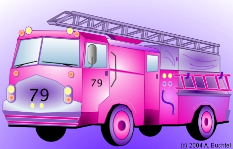 Drawing example on macOS using Eazydraw, a fire truck illustration