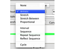 Brushes: Artistic, Stretch, Stretch Between, Proportional, Interval, Sequence, Repeat Sequence, Reflect Sequence, Cycle.