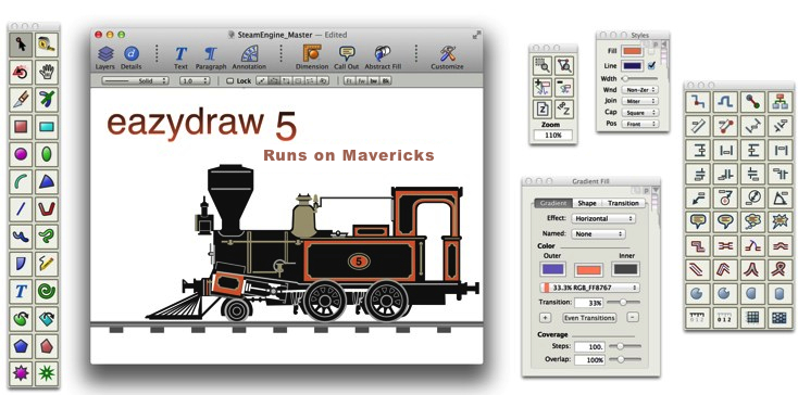 EazyDraw, Runs on Mavericks OS X